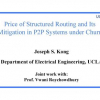 Price of Structured Routing and Its Mitigation in P2P Systems under Churn