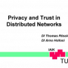 Privacy and Trust in Distributed Networks
