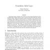 Probabilistic Belief Logics
