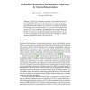 Probabilistic Bisimulation and Simulation Algorithms by Abstract Interpretation