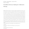 Probabilistic relevance ranking for collaborative filtering
