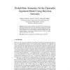 Probabilistic Semantics for the Carneades Argument Model Using Bayesian Networks