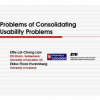 Problems of Consolidating Usability Problems