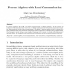 Process Algebra with Local Communication