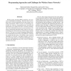 Programming Approaches and Challenges for Wireless Sensor Networks