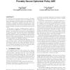 Provably secure ciphertext policy ABE