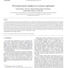 Provenance-Based Validation of E-Science Experiments