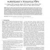 Pseudo Trust: Zero-Knowledge Authentication in Anonymous P2Ps