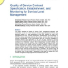 Quality of Service Contract Specification, Establishment, and Monitoring for Service Level Management