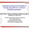 Quantifying performance benefits of overlap using MPI-2 in a seismic modeling application