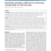 Quantized correlation coefficient for measuring reproducibility of ChIP-chip data