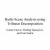 Radio scene analysis using trilinear decomposition
