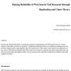 Raising reliability of web search tool research through replication and chaos theory