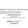 Random Generation and Enumeration of Proper Interval Graphs