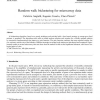 Random walk biclustering for microarray data