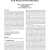 Randomization tests for distinguishing social influence and homophily effects