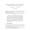 Randomized Methods for Linear Constraints: Convergence Rates and Conditioning