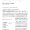Rapid determination of particle velocity from space-time images using the Radon transform