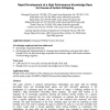 Rapid Development of a High Performance Knowledge Base for Course of Action Critiquing