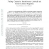 Rate-Constrained Wireless Networks with Fading Channels: Interference-Limited and Noise-Limited Regimes