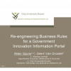 Re-engineering Business Rules for a Government Innovation Information Portal