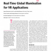 Real-Time Global Illumination for VR Applications