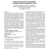 Reasoning about confidentiality at requirements engineering time