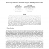 Reasoning about non-immediate triggers in biological networks