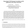 Reasoning for Web document associations and its applications in site map construction