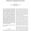 Reasoning with Semantic Web Technologies in Ubiquitous Computing Environment