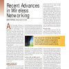 Recent Advances in Wireless Networking
