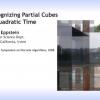 Recognizing partial cubes in quadratic time