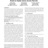 Recommending Related Papers Based on Digital Library Access Records