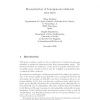 Reconstruction of homogeneous relational structures