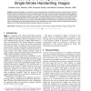 Recovery of Drawing Order from Single-Stroke Handwriting Images