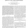 Reduced Complexity Sphere Decoding for Square QAM via a New Lattice Representation