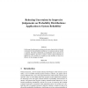 Reducing Uncertainty by Imprecise Judgements on Probability Distributions: Application to System Reliability