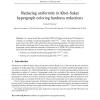 Reducing uniformity in Khot-Saket hypergraph coloring hardness reductions
