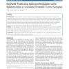 RegNetB: Predicting Relevant Regulator-Gene Relationships in Localized Prostate Tumor Samples