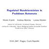 Regulated Nondeterminism in Pushdown Automata