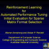 Reinforcement learning for automated performance tuning: Initial evaluation for sparse matrix format selection