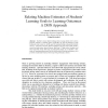 Relating Machine Estimates of Students' Learning Goals to Learning Outcomes: A DBN Approach