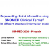 Representing Clinical Information using SNOMED Clinical Terms with Different Structural Information Models