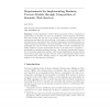 Requirements for Implementing Business Process Models through Composition of Semantic Web Services