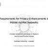 Requirements for Privacy-Enhancements in Mobile Ad Hoc Networks