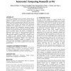 Research experiences for undergraduates: autonomic computing research at FIU