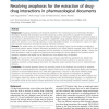 Resolving anaphoras for the extraction of drug-drug interactions in pharmacological documents