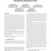 Restrained utilization of idleness for transparent scheduling of background tasks