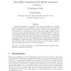 Reversible computing and cellular automata - A survey