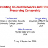 Revisiting Colored Networks and Privacy Preserving Censorship